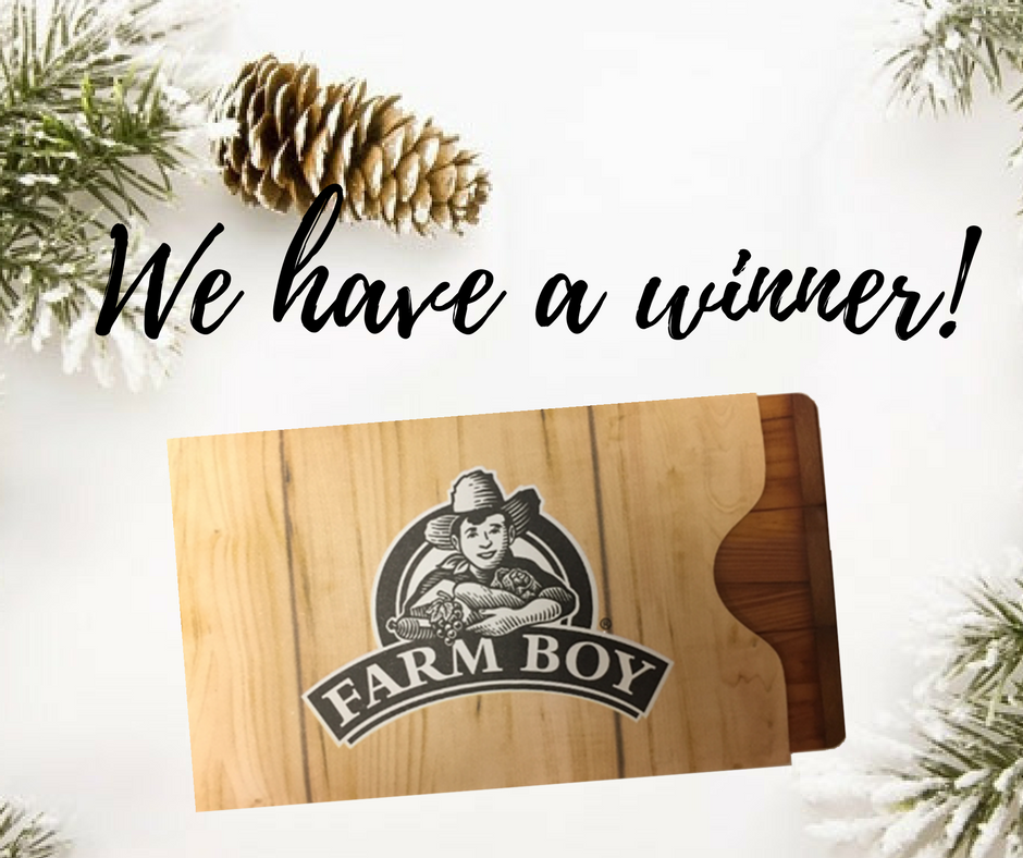 farm boy gift card winner