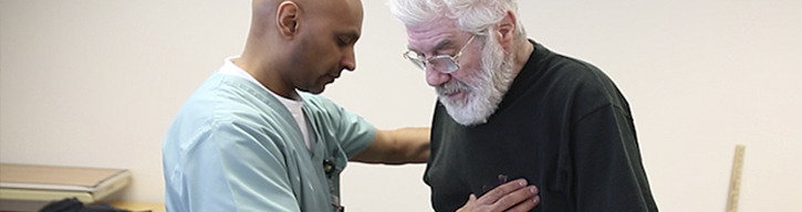 Occupational Therapist works with stroke patient