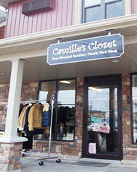 Exterior of Camille's Closet shop